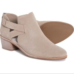 Dolce Vita Suede Taupe Koree Ankle Booties in 9.5
